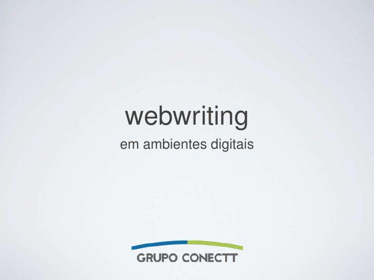 webwriting<br />emambientesdigitais<br />