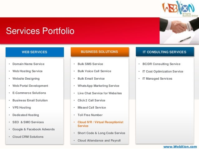 services portfolio templates