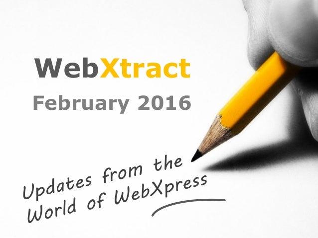WebXtract February 2016