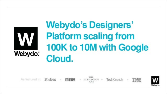 Webydo's Designers' Platform scaling from 100K to 10M with Google Cloud.