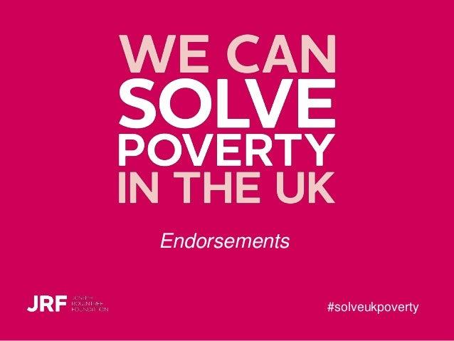 #solveukpoverty Endorsements