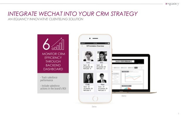 INTEGRATE WECHAT INTO YOUR CRM STRATEGY AN EQUANCY INNOVATIVE CLIENTELING SOLUTION 7