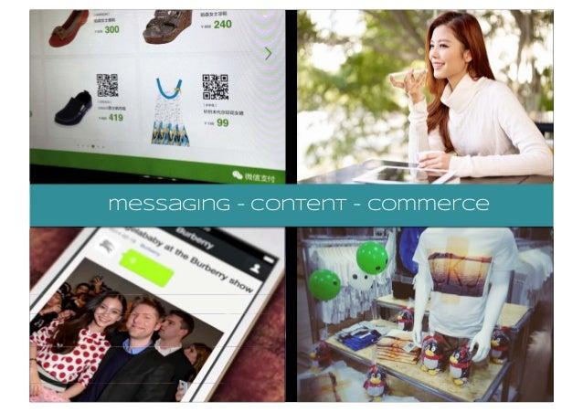 messaging - content - commerce