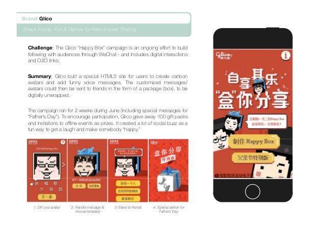"""Challenge: The Glico """"Happy Box"""" campaign is an ongoing effort to build following with audiences through WeChat - and incl..."""