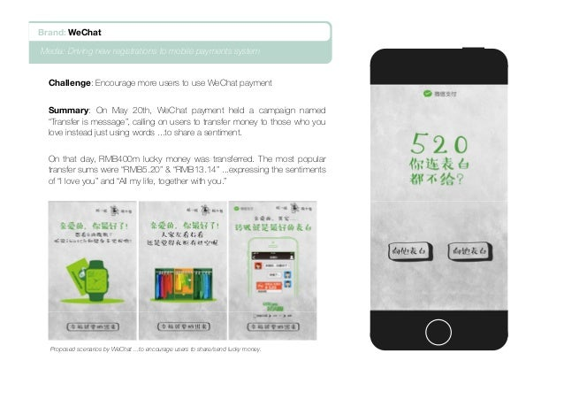 """Challenge: Encourage more users to use WeChat payment Summary: On May 20th, WeChat payment held a campaign named """"Transfer..."""