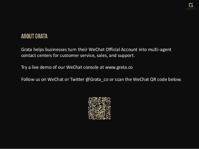 Grata helps businesses turn their WeChat Official Account into multi-agent contact centers for customer service, sales, an...
