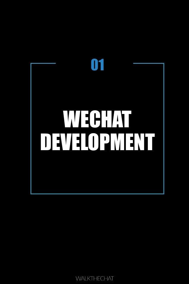 WECHAT DEVELOPMENT 01