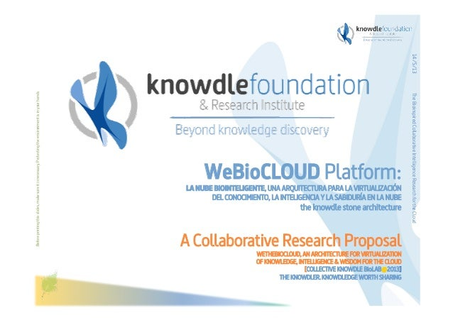 Beforeprintingthisslides,makesureitisnecessary.ProtectingtheenvironmentisinyourhandsWeBioCLOUD Platform:LA NUBE BIOINTEL...