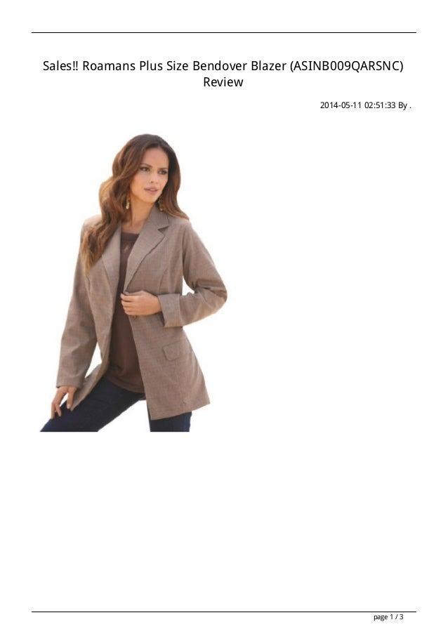 Sales!! Roamans Plus Size Bendover Blazer (ASINB009QARSNC) Review 2014-05-11 02:51:33 By . page 1 / 3