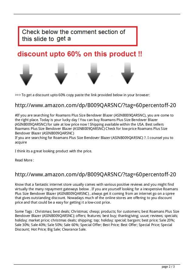 Sales roamans-plus-size-bendover-blazer-asinb009qarsnc-review Slide 2