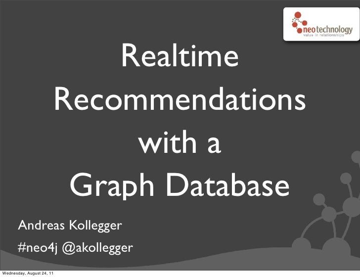 Realtime                       Recommendations                            with a                        Graph Database    ...