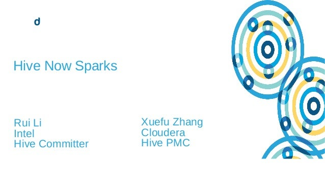 1© Cloudera, Inc. All rights reserved. Hive Now Sparks Rui Li Intel Hive Committer Xuefu Zhang Cloudera Hive PMC