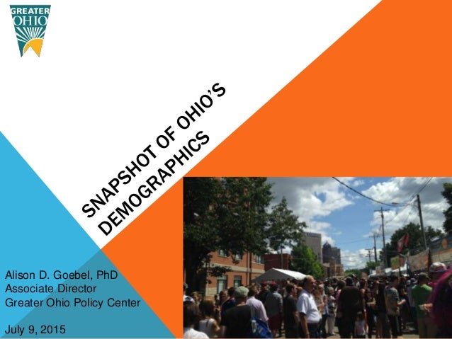 Alison D. Goebel, PhD Associate Director Greater Ohio Policy Center July 9, 2015