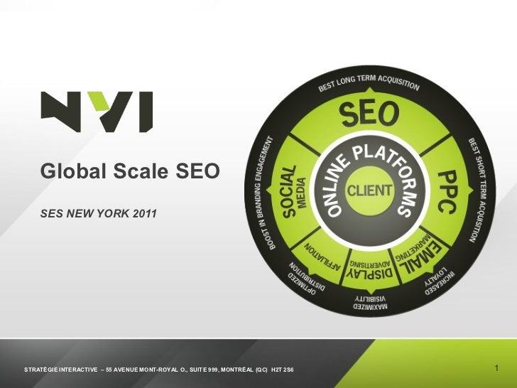 Global Scale SEO  SES NEW YORK 2011