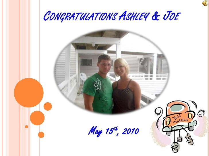 Congratulations Ashley & Joe<br />May 15th, 2010<br />