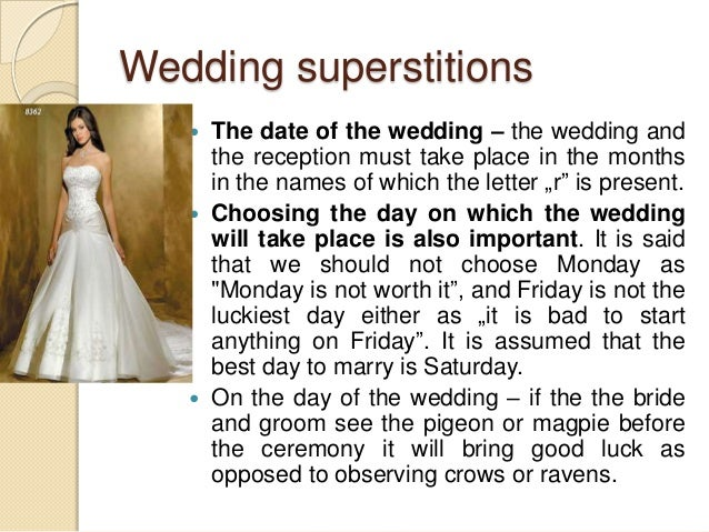 Wedding Beliefs And Superstitions In Poland