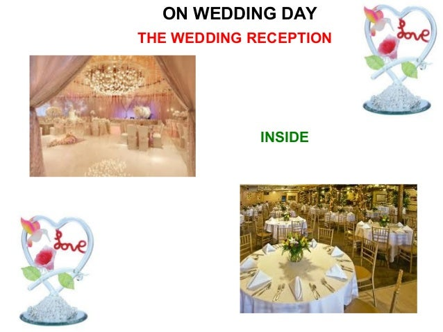 AFTER WEDDING CEREMONY            THE WEDDING RECEPTIONA number of speechesand/or toasts are given inhonour of the couple ...