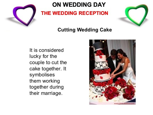 ON WEDDING DAY            THE WEDDING RECEPTIONAfter the reception the bridethrows her bouquet backover her shoulder where...