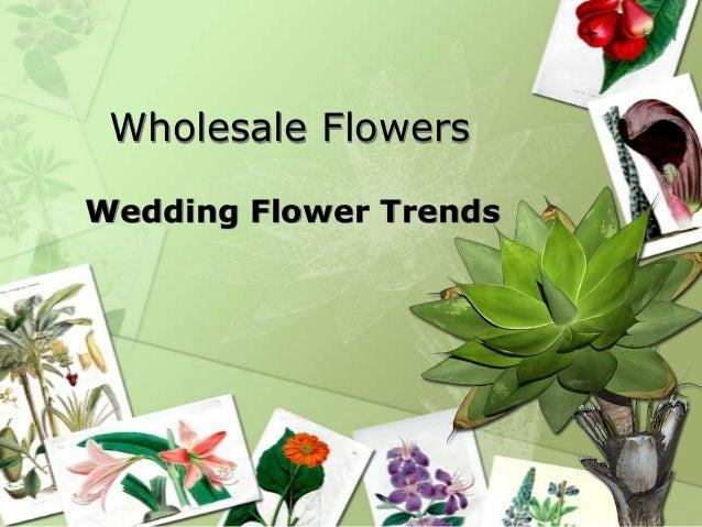 Wholesale FlowersWedding Flower Trends