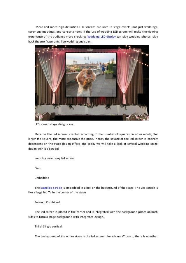Wedding led display