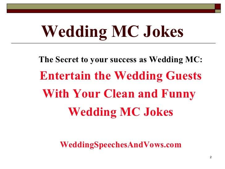 Wedding MC Joke Collection Slide 2