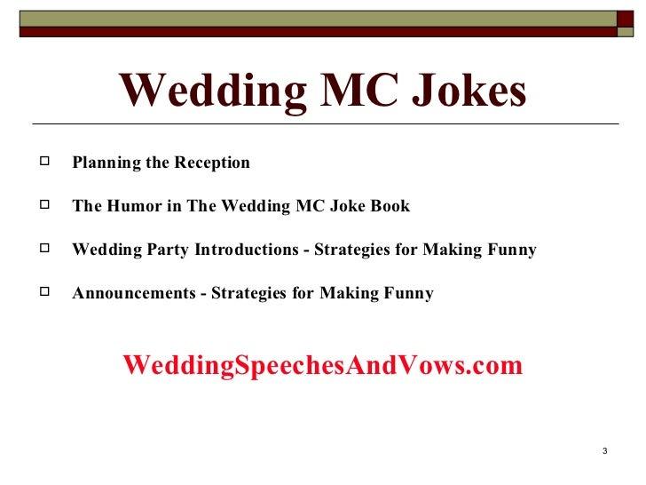 Wedding MC Joke Collection Slide 3