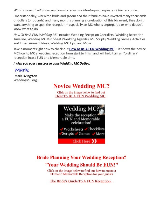 Wedding Mc Jokes Mc Jokes Information