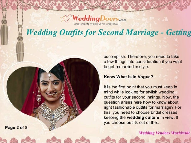 Wedding outfits for second marriage getting remarried in style