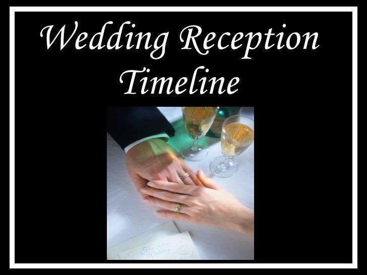 Wedding Reception Timeline Ppt