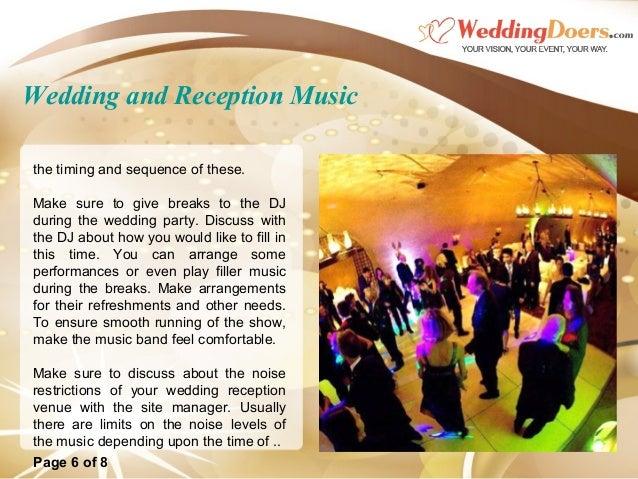 Wedding And Reception Music