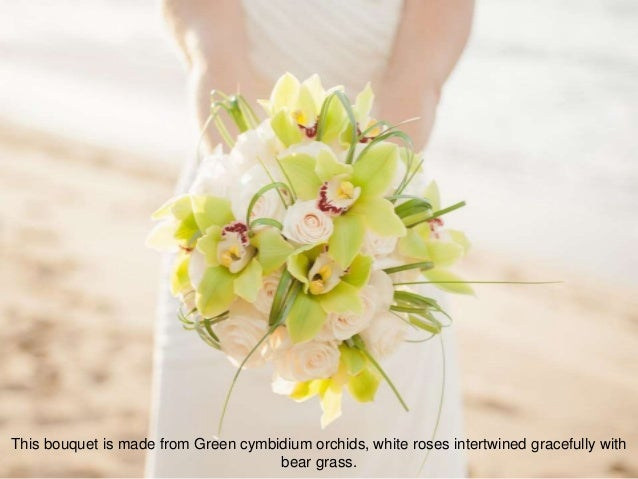 8 This Bouquet Is Made From Green Cymbidium Orchids