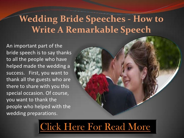 writing a good spiel designed for your own wedding