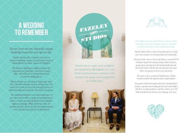 Wedding Brochure - Fazeley Events
