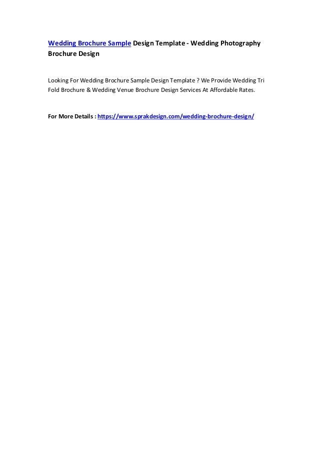 Wedding Brochure Sample Design Template