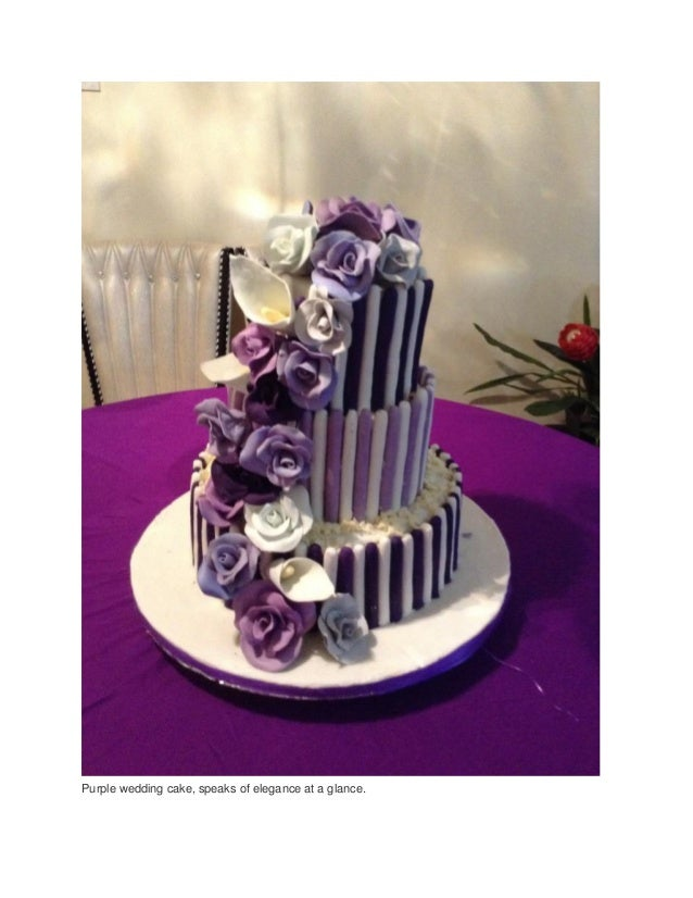 Wedding cake designs wedding cakes set up and types of cakes purple wedding cake speaks of elegance at a glance junglespirit Gallery