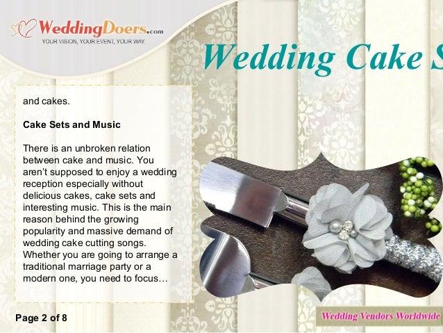 Wedding Cake Serving Sets