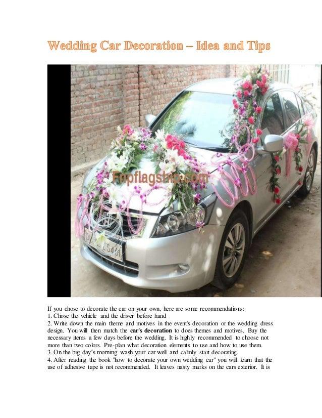 Wedding Car Decoration Idea And Tips