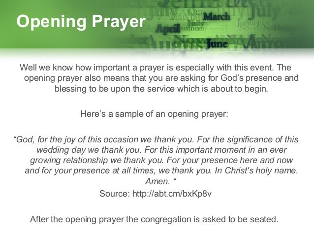 Sample Prayer For A Wedding Reception | Invitationjpg com