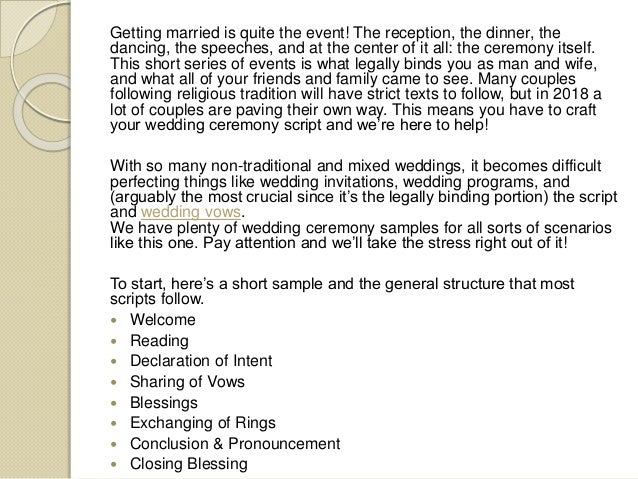 Wedding Ceremony Script Template from image.slidesharecdn.com