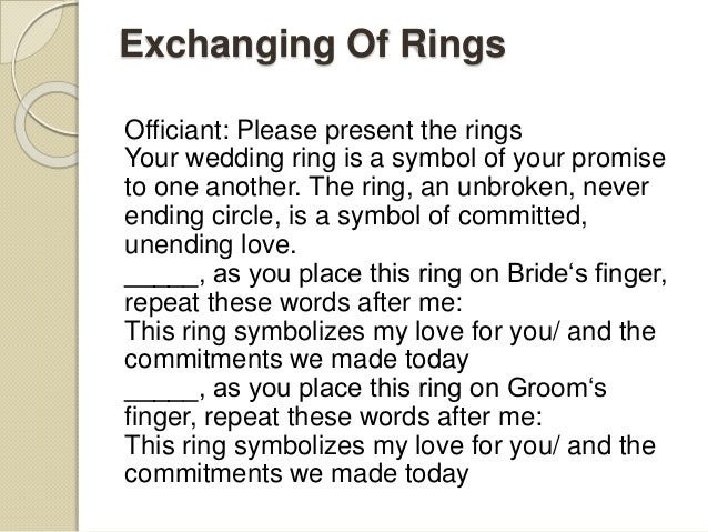 Wedding Ceremony Script For Each Wedding Type Updated List