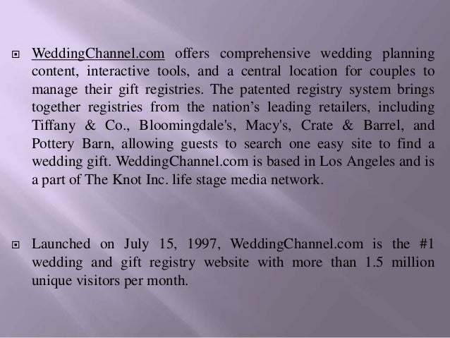 Deals weddingchannel com