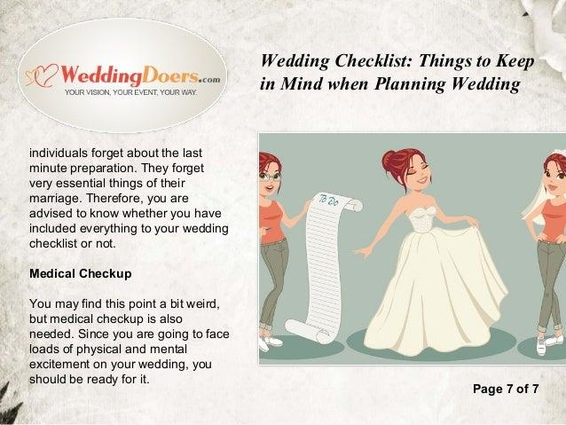 Wedding Checklist Things To Keep In Mind When Planning Wedding