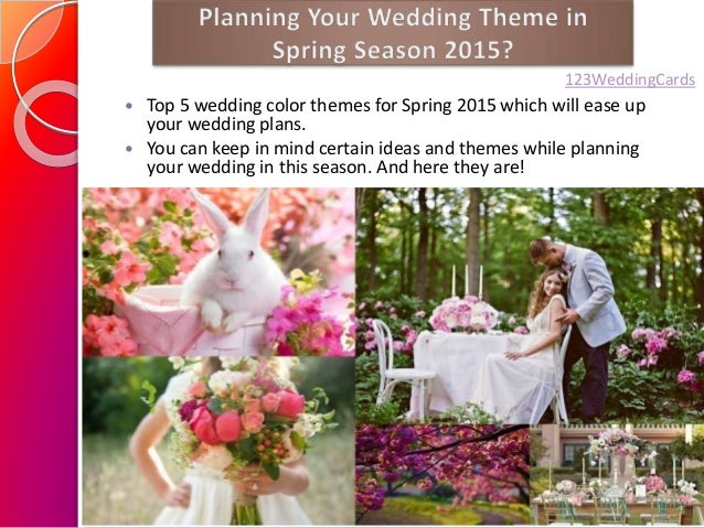 Springsummer wedding color ideas 2015 123weddingcards 2 top 5 wedding color themes junglespirit Images