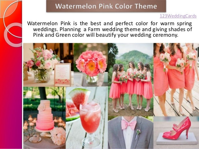 spring summer wedding color ideas 2015