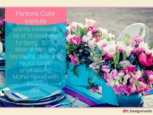 wedding color trends for spring 2015