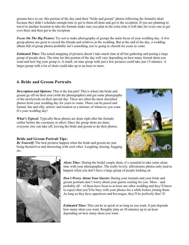 Wedding Day Photography Timeline And Tips