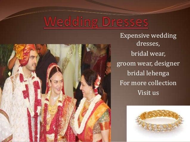 Expensive wedding dresses, bridal wear, groom wear, designer bridal lehenga For more collection Visit us