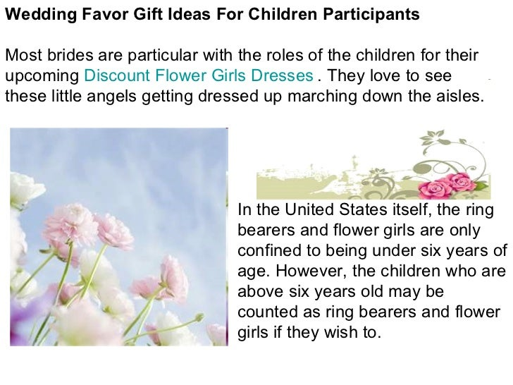 Wedding Gift Ideas For Kids: Wedding Favor Gift Ideas For Children Participants