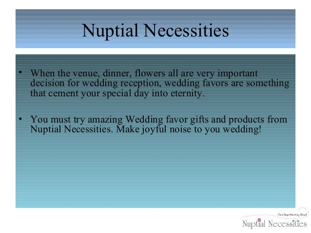Wedding Favors In Austin By Nuptial Necessities