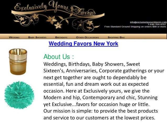 Wedding Favors New York